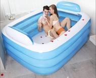 雙人超大家用成人浴盆情侶充氣浴缸兒童加厚洗澡桶摺疊浴盆泡澡桶  WD聖誕節歡樂購