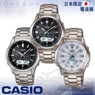【CASIO卡西歐】日本內銷款_電波_太陽能_鈦金屬錶帶男錶(LCW-M100TD)