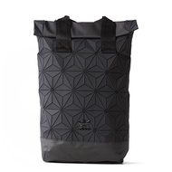 KUMO-ADIDAS 3D Roll Top Backpack 似三宅一生 鑽石 黑 菱格 後背包 DH0100