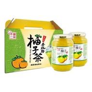 特價 韓國柚子茶禮盒1000g x2瓶 韓味不二生黃金蜂蜜柚子茶 2Kg 柚子果醬 不含防腐劑 水果茶飲 柚子茶 好市多