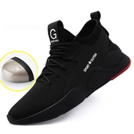 Safety Boot Men Sneakers Men Boots Steel Toe Safety Shoes Anti-piercing Military Shoes Outdoor Men Shoes Plus Size 48