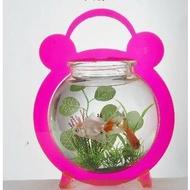 亞克力 桌面迷你小魚缸 書房桌面裝飾 小朋友 陶冶情操-7901002