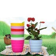BAGAS กระถางขนาดเล็กใช้ในบ้านกลางแจ้ง,กระถางดอกไม้ขนาดจิ๋วใช้ตกแต่งบนโต๊ะระเบียงตะกร้าปลูกพืชไม้อวบน้ำ