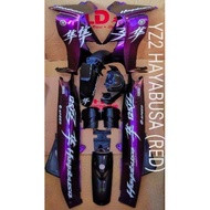 🔥READY STOCK🔥 Y125 ZR NEW COVER SET HAYABUSA YAMAHA STICKER STAMPED WITH 2K CLEAR