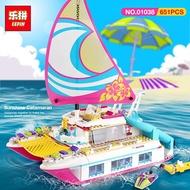 Lepin Friends 01044 Dolphin Cruiser/ Lepin Friends 01038 Sunshine Catamaran Bricks Toys Gifts Compat