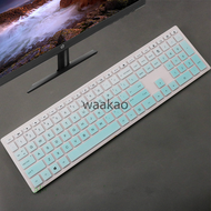 waakao Desktop Keyboard Cover Protector Skin Computer For HP Pavilion All-in-One PC 24-xa 24-xa0002a 24-xa0300nd 24-xa0051hk 23.8 inch