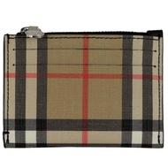 BURBERRY 蘇格蘭紋防水帆布拉鍊卡片/零錢包