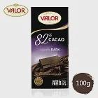 Valor 82%純黑巧克力片 100g