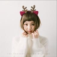 【閃亮亮 麋鹿貓耳朵髮箍】鹿角貓耳髮箍 媽媽是超人 聖誕節麋鹿髮箍 貓耳朵髮箍【狂麥市集】