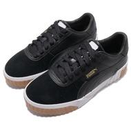 【PUMA】休閒鞋 Cali Exotic 低筒 穿搭 女鞋 皮革 質感 舒適 球鞋 厚底 復古 黑 白(36965303)
