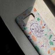 太空白 彩石 - 手機殼 Samsung S8