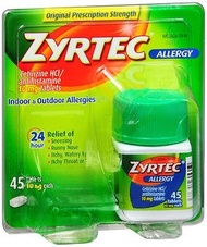▶$1 Shop Coupon◀  Zyrtec Allergy 10 mg Tablets 45 ea (Pack of 2)