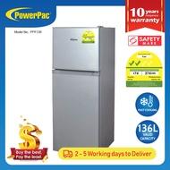 PowerPac 136L 2 Door Mini Bar Fridge with Freezer (PPF136)
