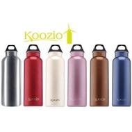 美國 Koozio 炫彩水瓶 600cc【紫嫣紅】高級不鏽鋼材質無塗層處理,瑞士SGS檢驗 自行車小折冷水壺、茶壺 SIGG