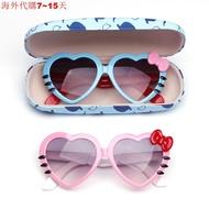 兒童愛心眼鏡寶寶心形太陽鏡女兒童太陽眼鏡男時尚桃心小公主