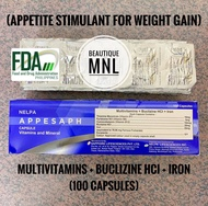 Multivitamins + Buclizine HCl + Iron APPESAPH Appetite Stimulant for Weight Gain