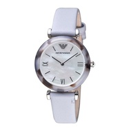 Emporio Armani AR11002 Analog Quartz Grey Leather Women Watch [Pre-Order]