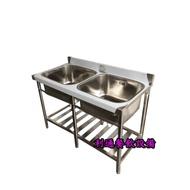 《利通餐飲設備》2口水槽 120 × 60 × 80 深30 2水槽 二口水槽 雙口水槽 2口深水槽
