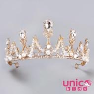 【UNICO】兒童 冰雪奇緣艾莎最愛的公主水晶皇冠頭飾/髮飾(婚宴/花圈/花童)