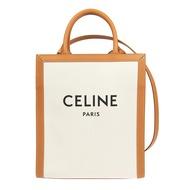Celine Triomphe 帆布 Logo 小型直式 Cabas 2用托特包