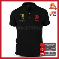 Polo T Shirt Embroidery Yamaha Monster MotoGP Motorcycle Motosikal 125Z LC135 RXZ TZM SRL Superbike Racing Team Casual