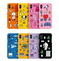 【BT21 OFFICIAL GOODS】 BT21 JELLY PHONE CASE/ BT21 CLEAR JELLY iPhone case BT21 ROOMIES SERIES