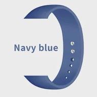 ปรับ Navy Blue Band 44mm40iWatch Series6 5 4กีฬาซิลิโคน42for Apple นาฬิกา Series 2สตรีสายคล้องคอนุ่มสร้อยข้อมือ38