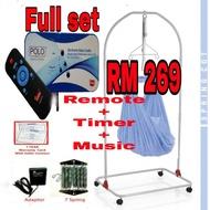 My dear spring cot rangka buaian besi with polo buaian elektrik remote timer music free net