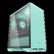 AIGO 電腦機殼 DLM 22 薄荷綠 電腦機殼 PC機殼 電競機殼 電腦機箱【迪特軍】