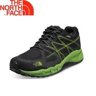 【The North Face 美國 男款 Gore-Tex健行鞋《黑/綠》】32YM/防水/透氣/健走鞋
