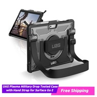 UAG Microsoft Surface Go 2/ Surface Go with Hand Strap & Shoulder Strap Plasma Feather-Light Rugged Military Drop tested