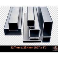12.7mm x 25.4mm Rectangle Stainless Steel S304 BA Ornamental Pipe / Hollow (besi tahan karat)