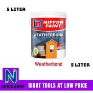 Nippon Paint Weatherbond (Colour Creation) Exterior Wall Paint - Cat Luar Dinding Rumah 5L - 5 Liter