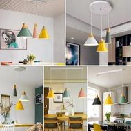 吊燈 吸頂燈 LED燈 北歐風格 北歐餐廳吊燈現代簡約馬卡龍單三頭床頭吧臺網紅創意個性店鋪燈具全館免運中