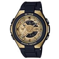 BABY-G G-MS系列成熟女孩完美設計休閒錶-黑X金(MSG-400G-1A2)45
