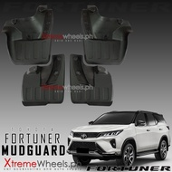 Toyota Fortuner 2021 Black Front and Rear Mudguard / Mud guard / Mud flaps ( Fortuner Mudguard 2016 2017 2018 2019 2020 2021 ) ( Fortuner Accessories )
