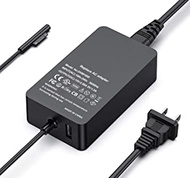 Surface Pro Charger, 44W 15V 2.58A Compatible with Microsoft Surface Book 1/2, Surface Laptop 1/2/3, New Surface Pro 7/6/5/4/3/X, Surface Laptop Go 1/2