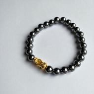 鈦赫茲黃金貔貅串珠手鍊