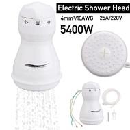 HULUNBEIER 5400W 110 / 220V電動淋浴頭立即熱水加熱器浴缸軟管支架