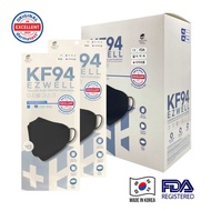 EZWELL Made in Korea KF94  Individual Packing 4 Layers protection mask (Black/White) 1 psc 医疗口罩 独立包装