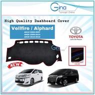 Toyota Vellfire / Alphard Dashboard Cover Nonslip High Quality Custom Made Flannel Dashboard Cover