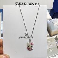 【新品】 SWAROVSKI施華洛世奇 HELLO KITTY 粉色迷人項鍊 鎖骨鏈 仿水晶心立體鍊墜項鍊5228241