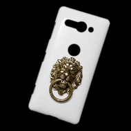 Cover for Sony Xperia XZ2 Compact 3D Bronze Lion Head Ring Stand Holder Hard Back Case