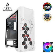 AZZA  Full Tower Tempered Glass RGB Gaming Computer Case Storm 6000 - White