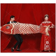 ty wedding photography props national tide show wo clothes chinese carp kite