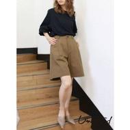 Ungrid 打褶寬版休閒短褲(2色)