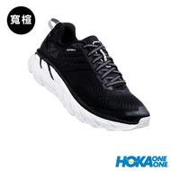 HOKA ONE ONE 女 Clifton 6 寬楦 路跑鞋 黑白