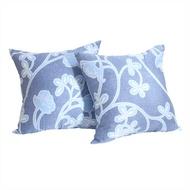 CASA 100%天絲布套抱枕2入 45 x 45 公分 - 戀花藍