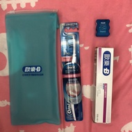 《歐樂-B》超纖細軟毛35號/牙齒及牙肉護理牙膏50克/satin超滑牙線5m