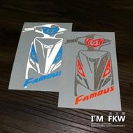 反光屋FKW 新名流 新名流125 新名流150 FAMOUS 機車車型反光貼紙 防水車貼 獨家設計製作 KYMCO
